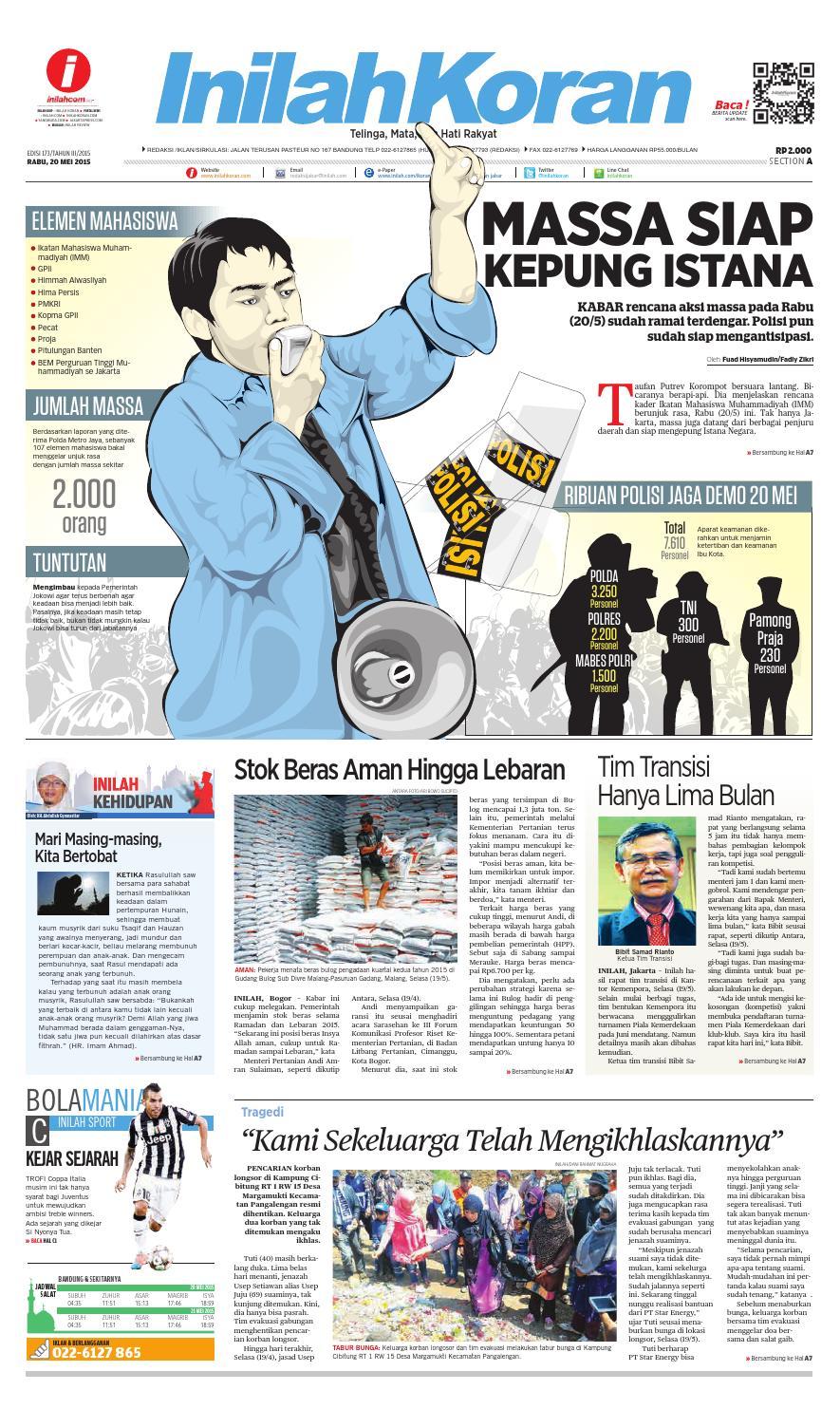 Massa Siap Kepung Istana By Inilah Koran Issuu Produk Ukm Bumn Bahan Songket Sulam Katun Merah