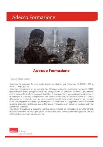 Adecco Formazione Catalogo Fondimpresa By Adecco Italia