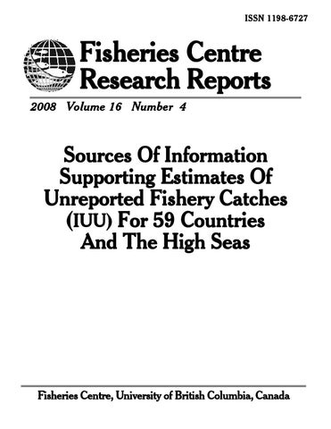 Sources of Information Supporting Estimates of Unreported Fishery ... f5c8a45102