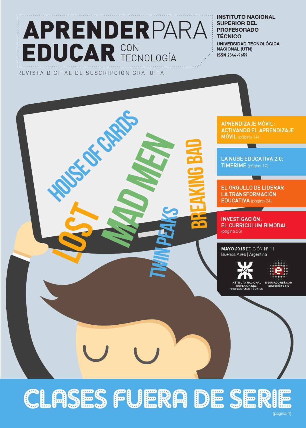 """Revista """"Aprender para Educar con Tecnología"""" - Número 11"""