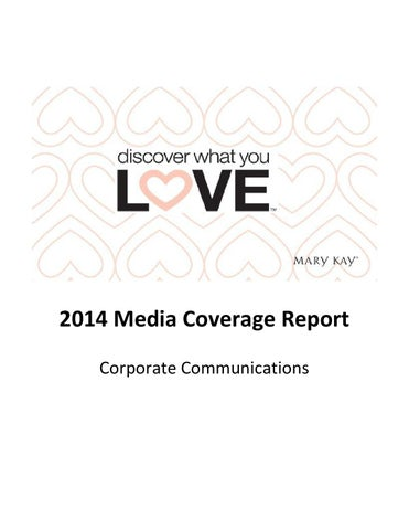 2014 Media Coverage Report - Mary Kay Corp Communications ...