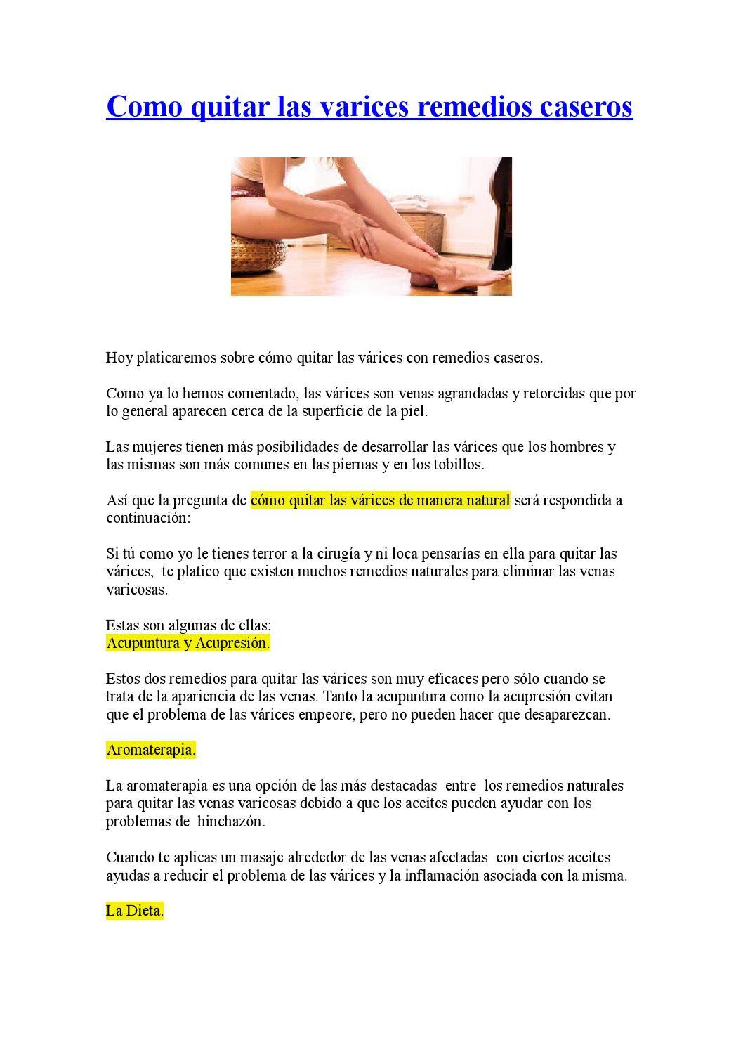 Como Quitar Las Varices Remedios Caseros By Laura De La Rosa
