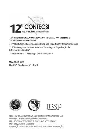 12contecsi abstracts by laboratrio de tecnologia e sistemas de 12th international conference on information systems technology management 34th wcars world continuous auditing and reporting systems symposium 1 toi fandeluxe Images