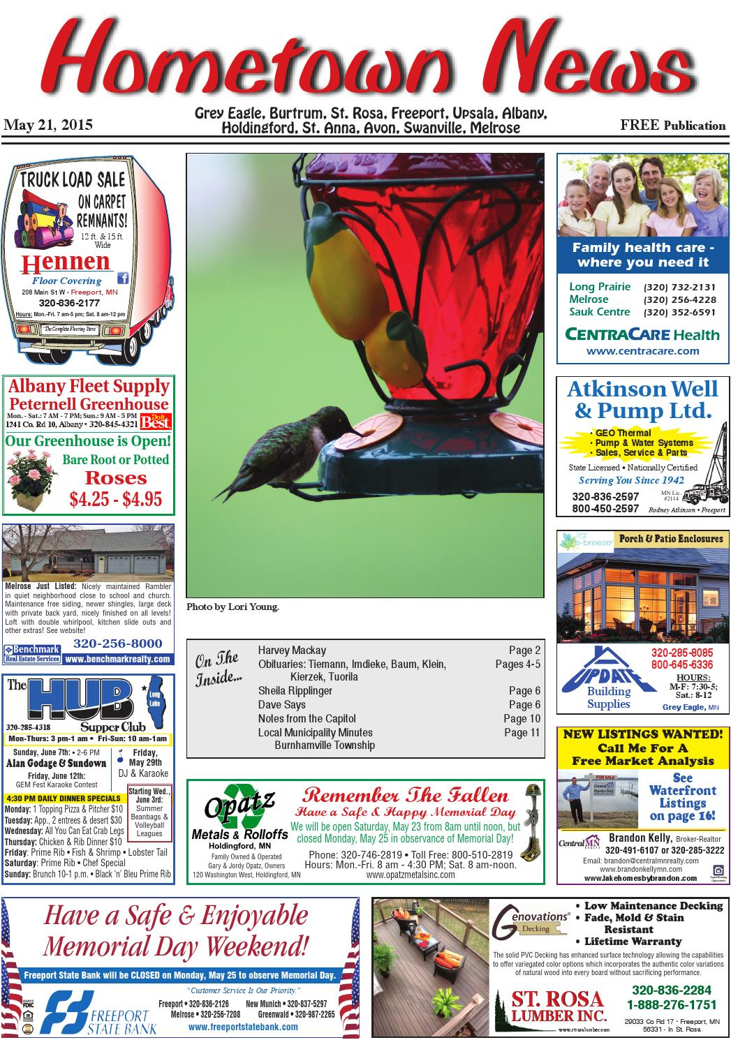 hometown news may 21 2015 by hometown news issuu