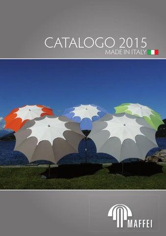 Maffei ombrellone palo centrale Mare bianco//blu dralon d.200 cm made in Italy