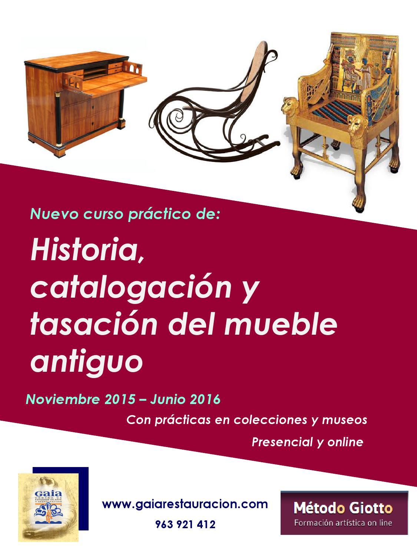Curso presencial historia del mueble by gaia centro de for Historia del mueble pdf