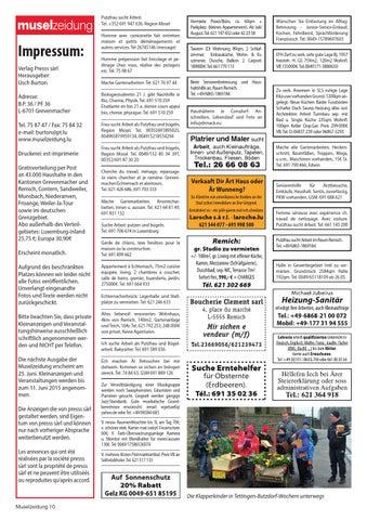Muselzeidung 413 by Presss sarl - issuu