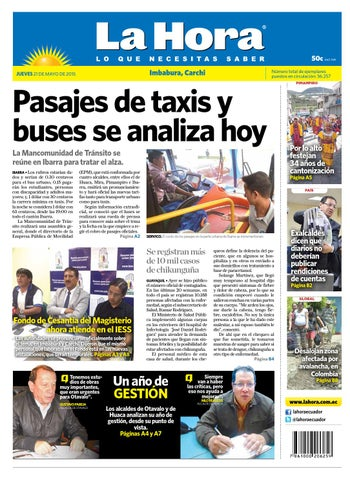 9398839a8 Imbabura 21 mayo 2015 by Diario La Hora Ecuador - issuu