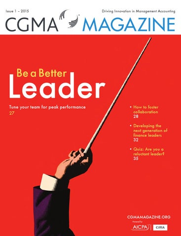 CGMA Magazine 2015 Leadership by Chartered Institute of Management
