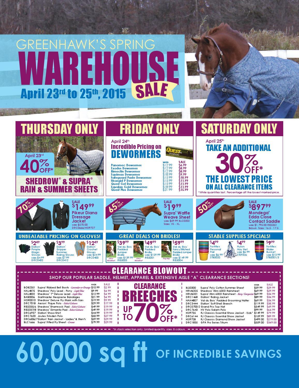 Greenhawk warehousesale2015 horsesport final by HRCS - issuu