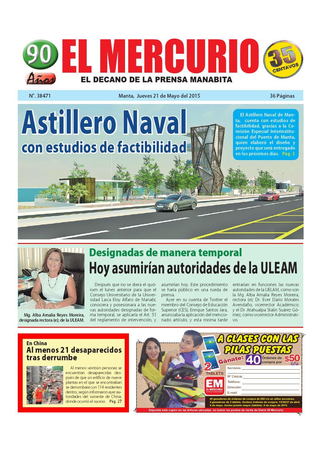 Jueves 21 de mayo del 2015 by Diario El mercurio - issuu