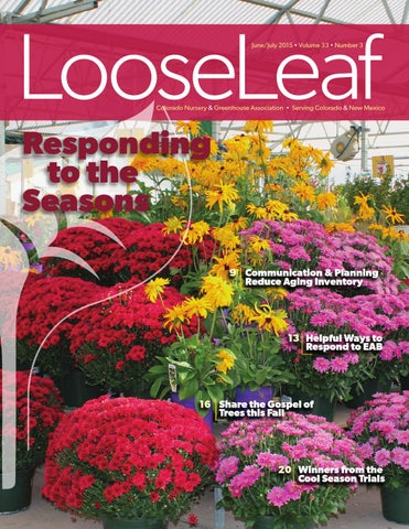 June/July 2015 Issue by Colorado Nursery and Greenhouse