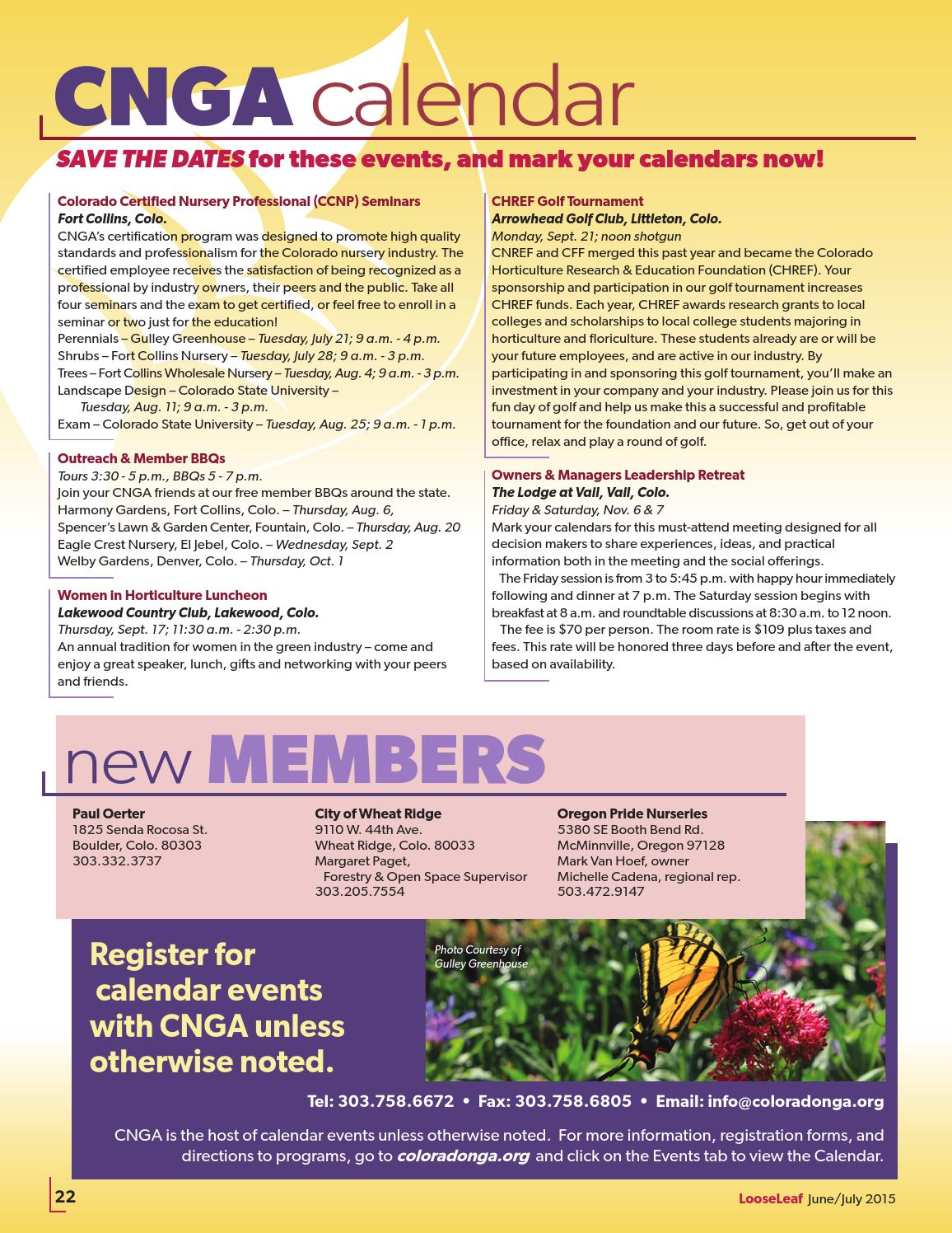 June July 2015 Issue By Colorado Nursery And Greenhouse Association Issuu