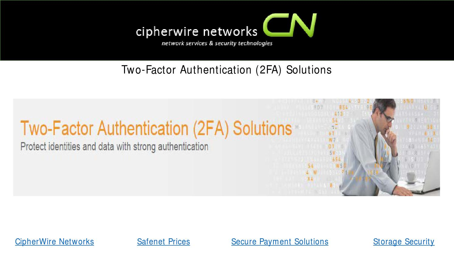 Two Factor Authentication 2fa Solutions By Cnnetwork