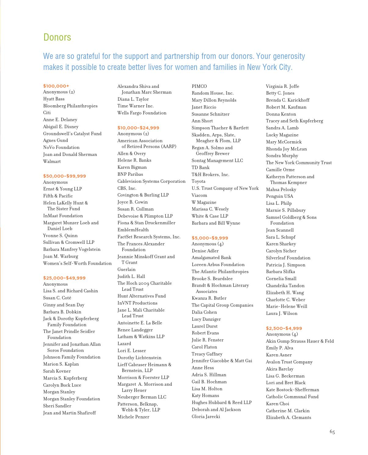 The New York Women's Foundation's 2012 Annual Report by The New York