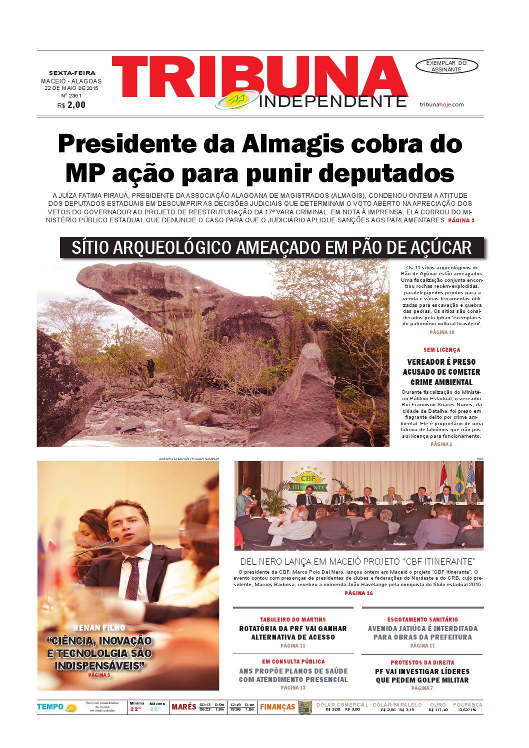 eecfd4436 Edição número 2351 - 22 de maio de 2015 by Tribuna Hoje - issuu