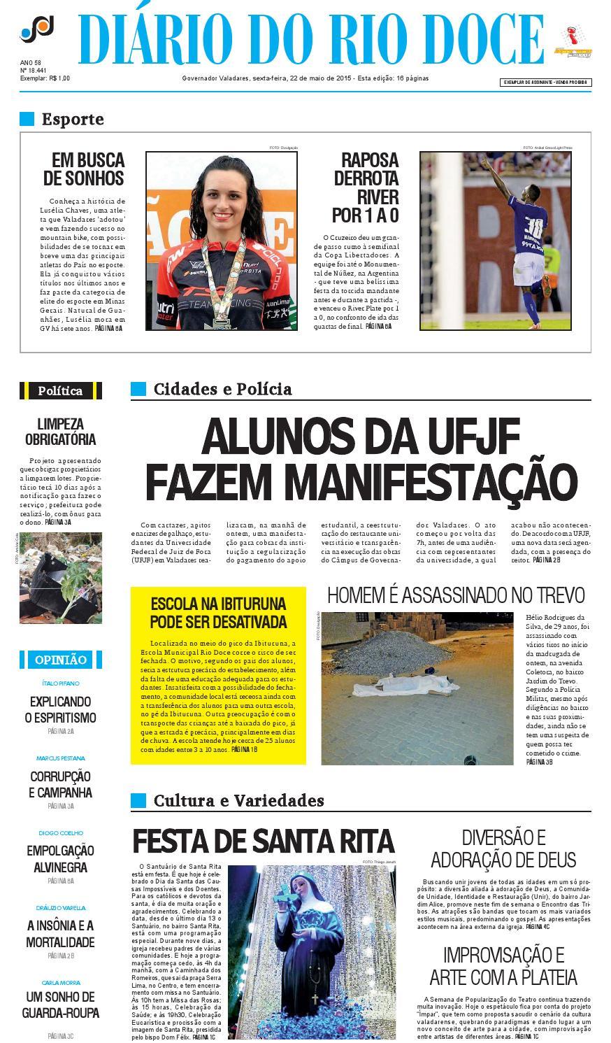 Diário do Rio Doce - Edição de 22 05 2015 by Diário do Rio Doce - issuu 55c675e50b0bd
