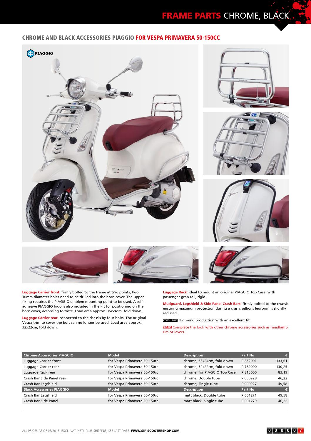 SIP Modern Vespa Catalogue Update 2015 by SIP Scootershop