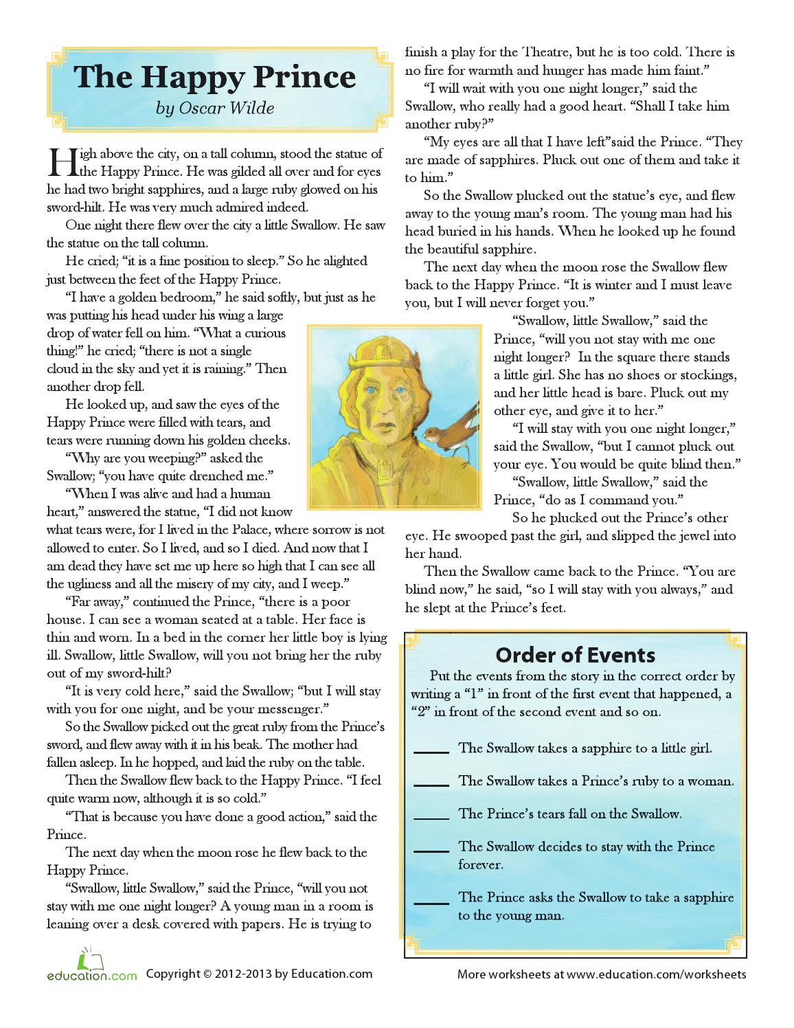 The happy prince worksheet by Gemma - issuu