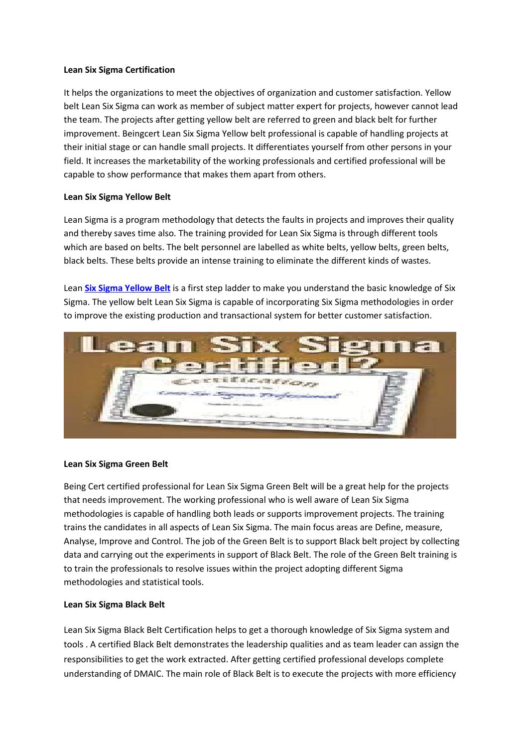 Lean six sigma certification by certified scrum master issuu 1betcityfo Image collections