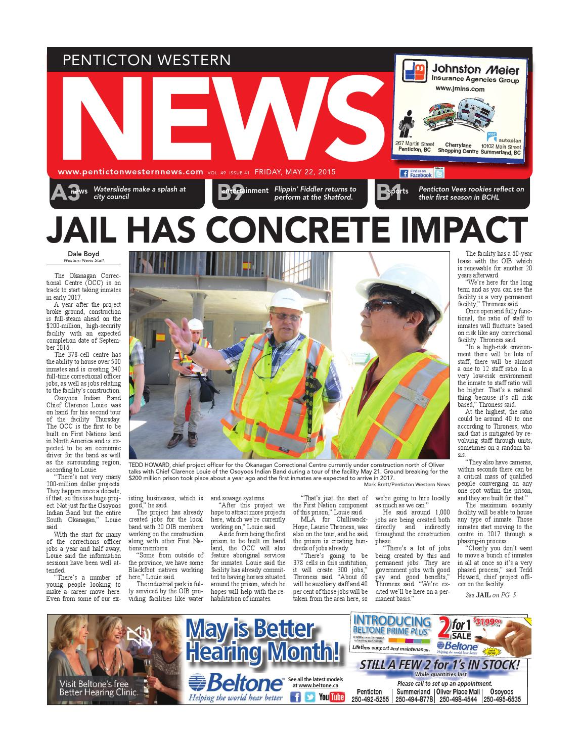 Penticton Western News May 22 2015 By Black Press
