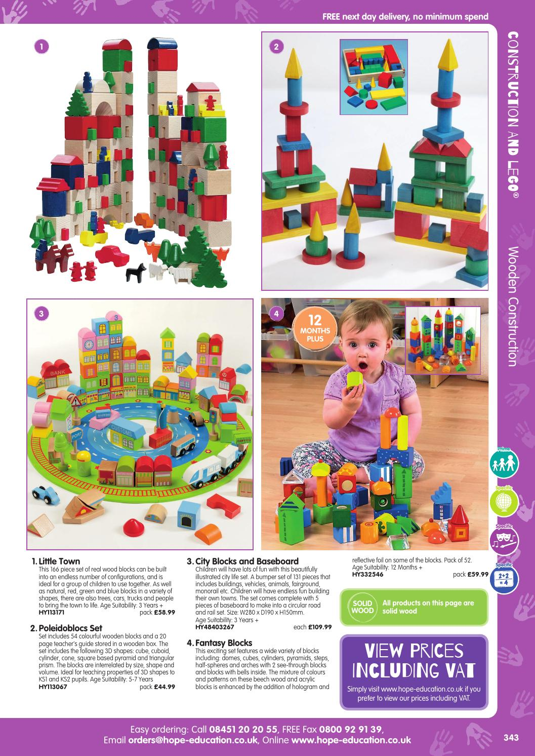 Hope Education Early Years Catalogue 2015/16 - Construction and LEGO