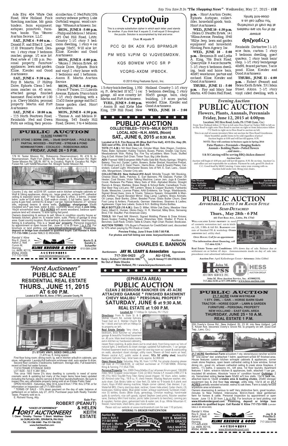 Martin And Rutt Auctioneers >> 5.27 issue by Shopping News - issuu