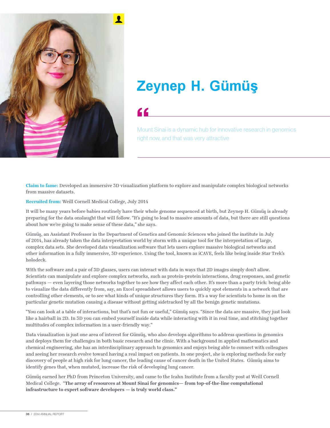 2014 Genomics Annual Report by Mount Sinai Health System - issuu