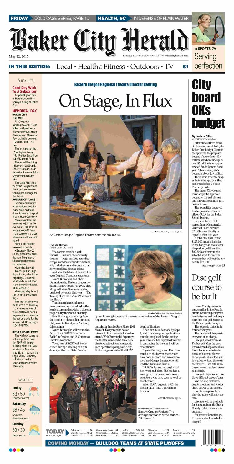Baker City Herald paper 5-22-15 by NorthEast Oregon News - issuu
