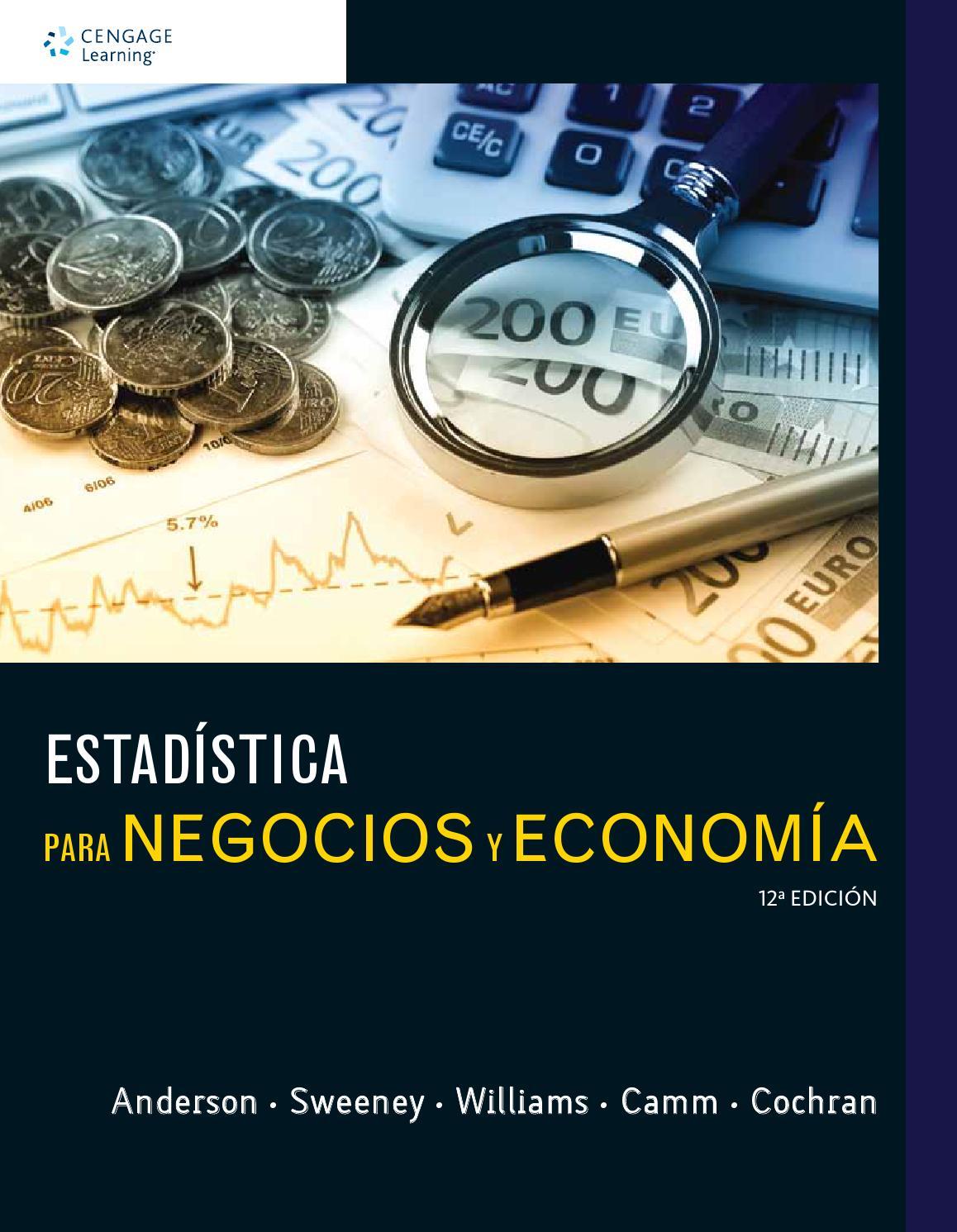 Estadística para Negocios y Economía. 12 Ed. David R. Anderson ...