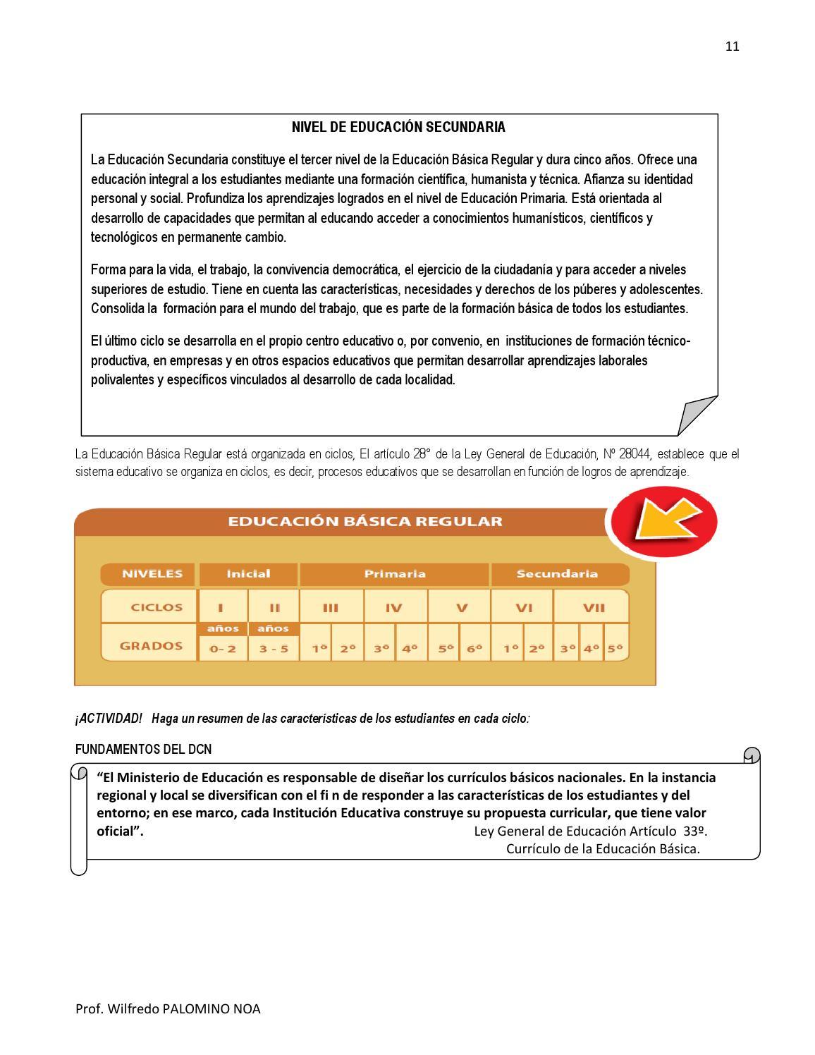 Diseño curricular aspectos generales by Wilfredo PALOMINO NOA - issuu