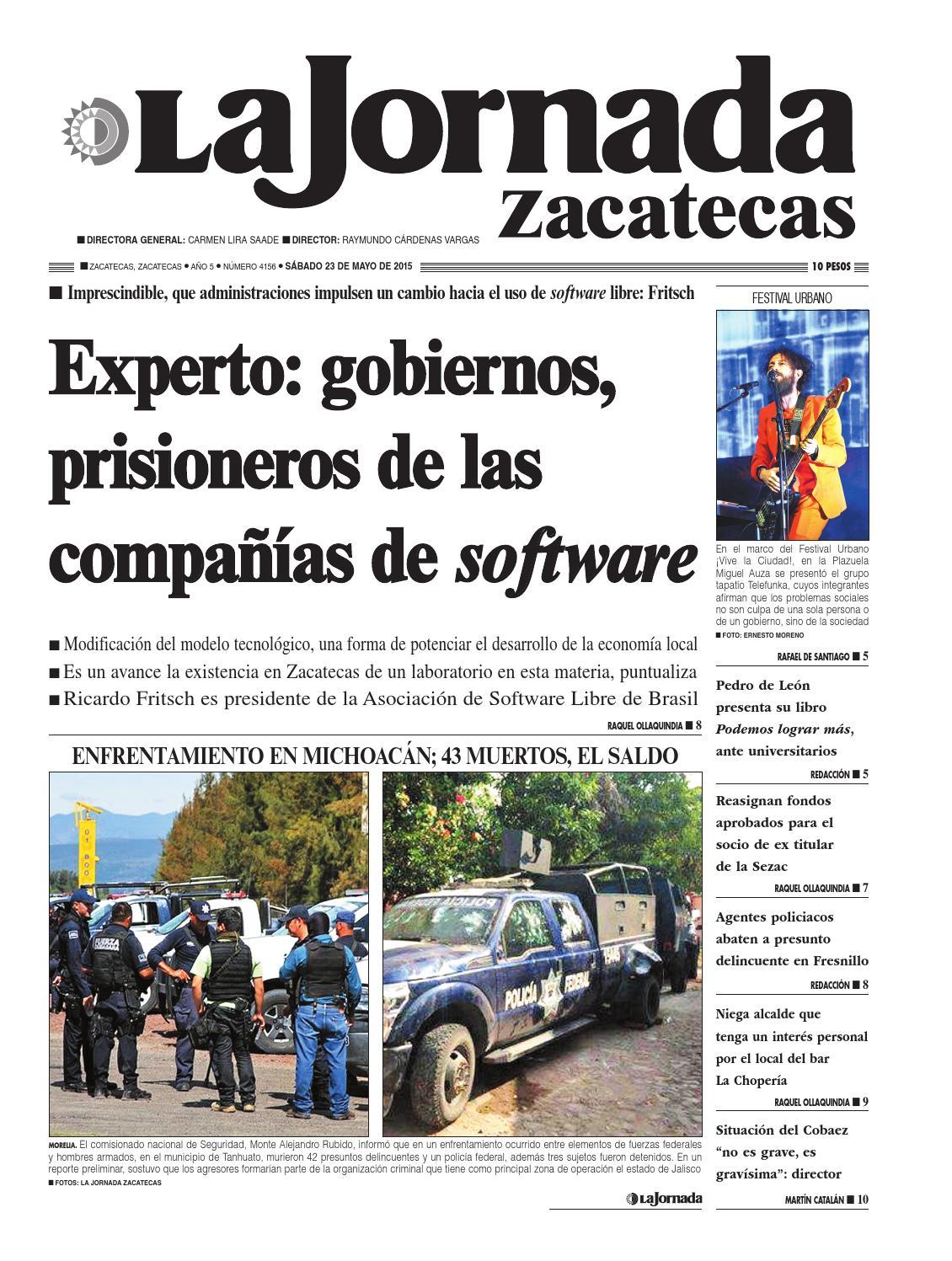 La Jornada Zacatecas, sábado 23 de mayo del 2015 by La Jornada ...