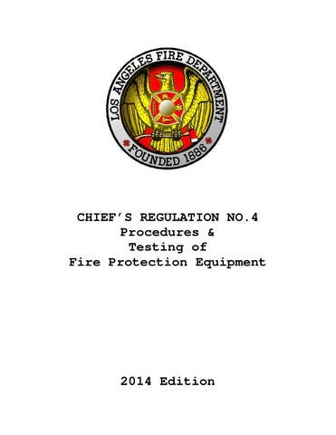 LAFD Chief's Regulation 4 Test Procedures 2014 by Los