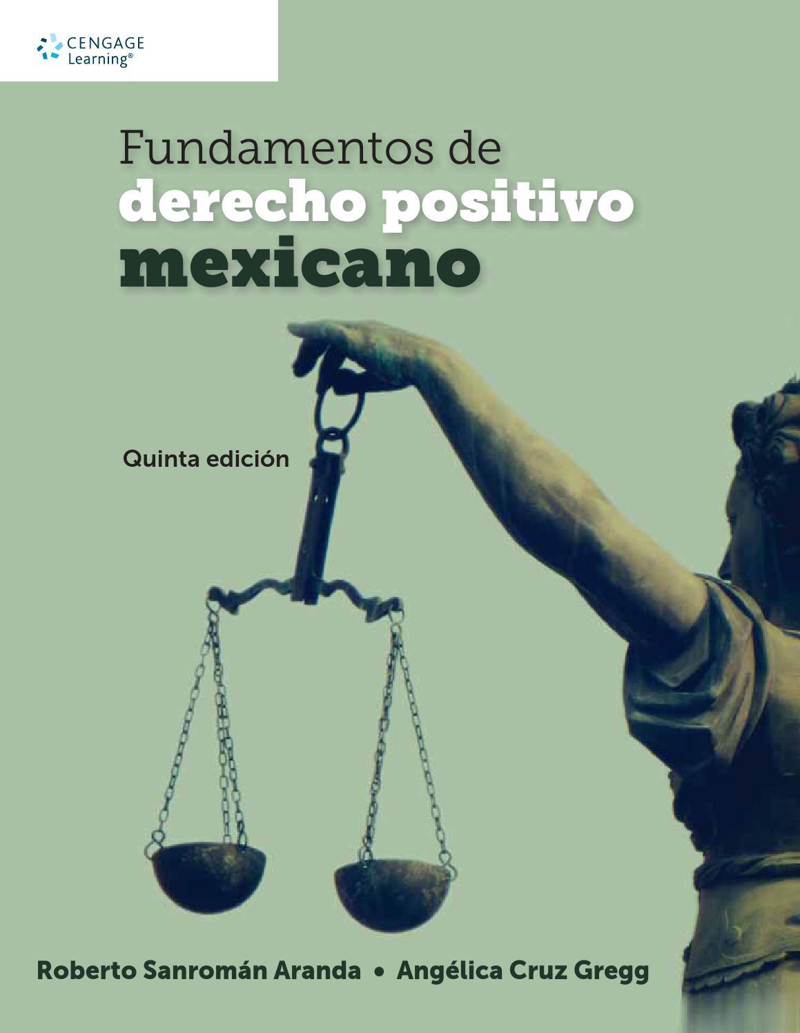 Fundamentos de derecho positivo mexicano. 5 Ed. Roberto A. Sanromán ...