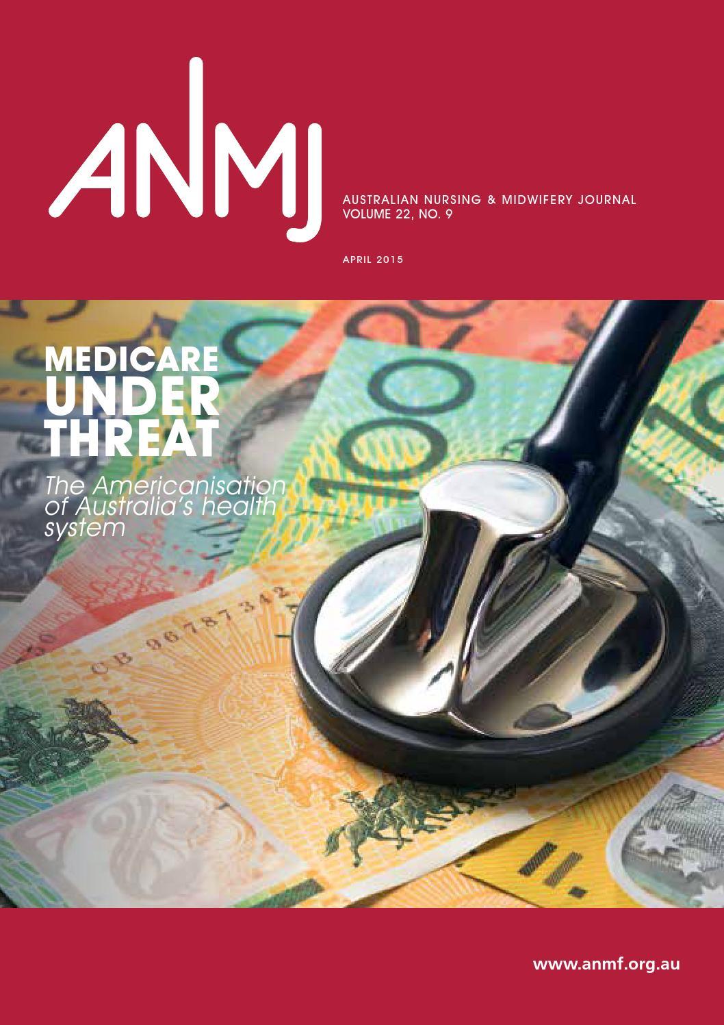 Anmj April 2015 By Australian Nursing Midwifery Journal Issuu Tas Nurse Kit