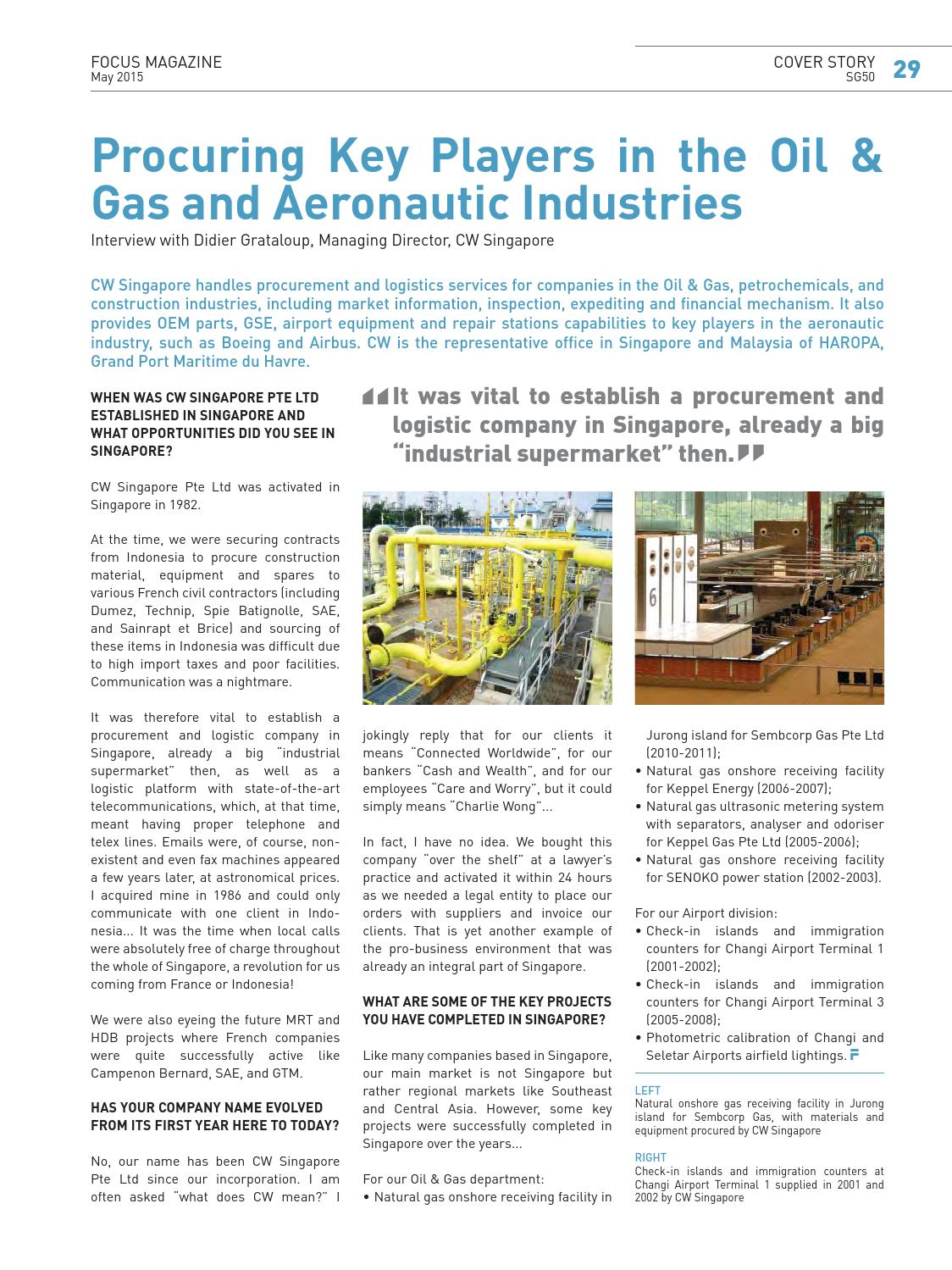 FCCS FOCUS Magazine SG50 - May 2015 by The French Chamber of