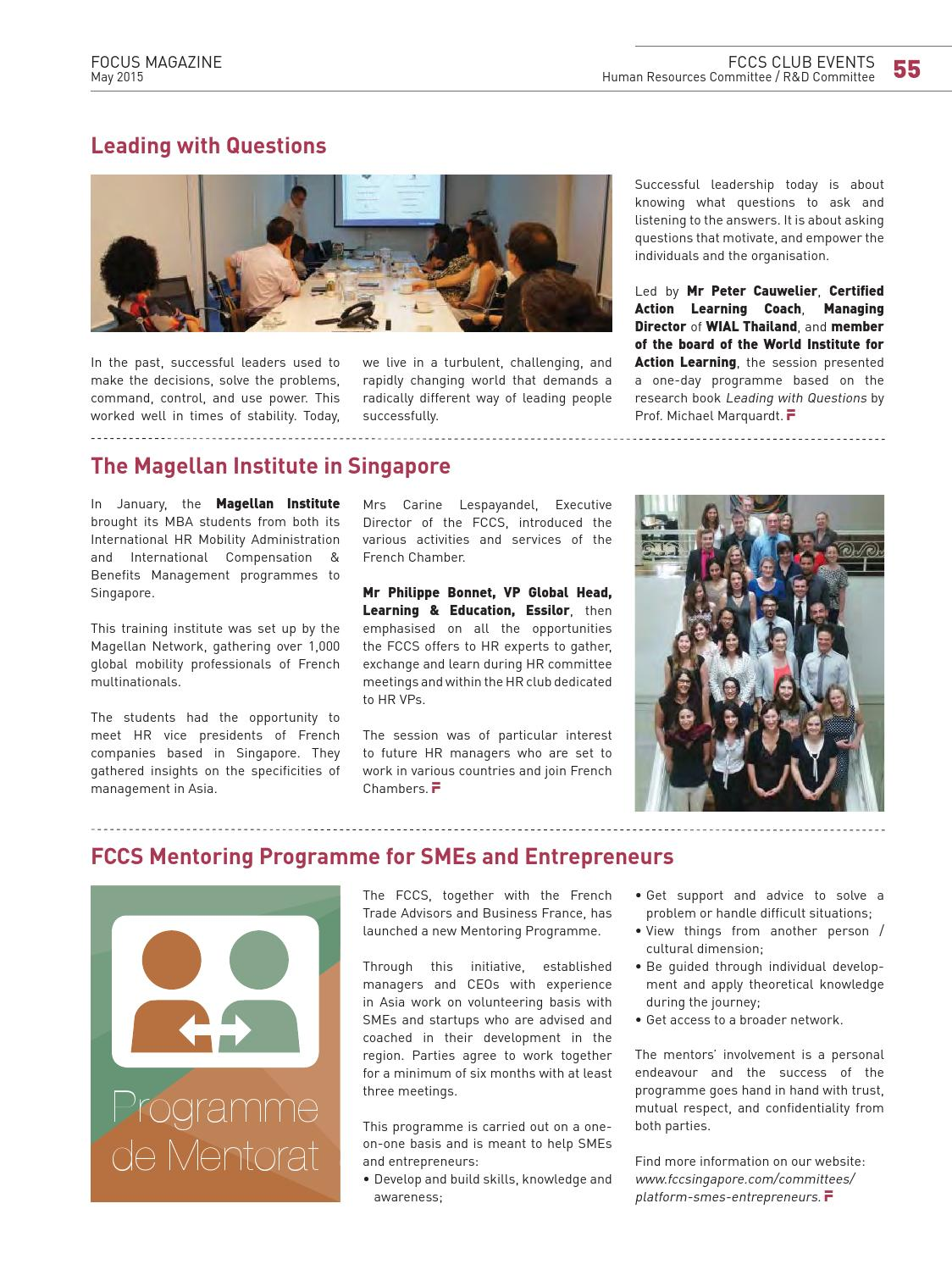 Fccs Focus Magazine Sg50 May 2015 By The French Chamber Of