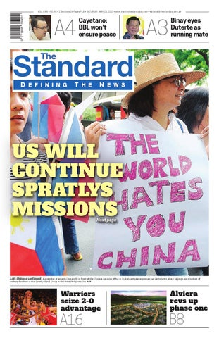 c94c70cdad91 The Standard - 2015 May 23 - Saturday by Manila Standard - issuu