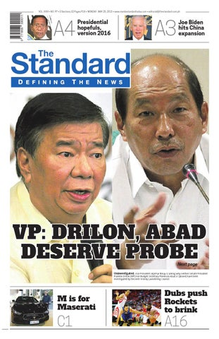 The Standard - 2015 May 25 - Monday by Manila Standard - issuu