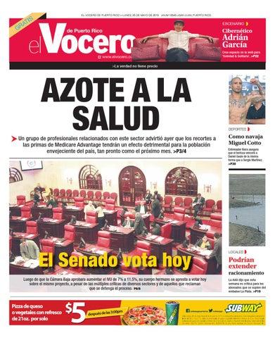 17d41e373de Edición 25 de Mayo 2015 by El Vocero de Puerto Rico - issuu