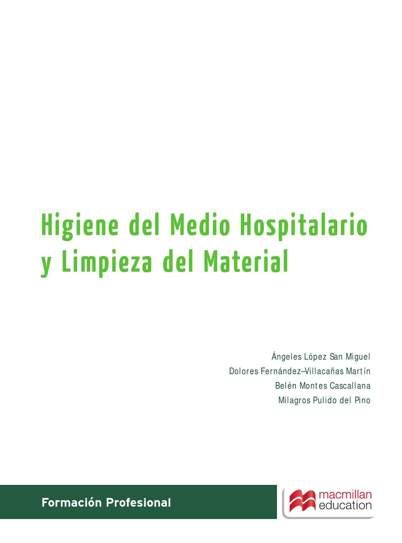 higiene del medio hospitalario y limpieza del material pdf gratis