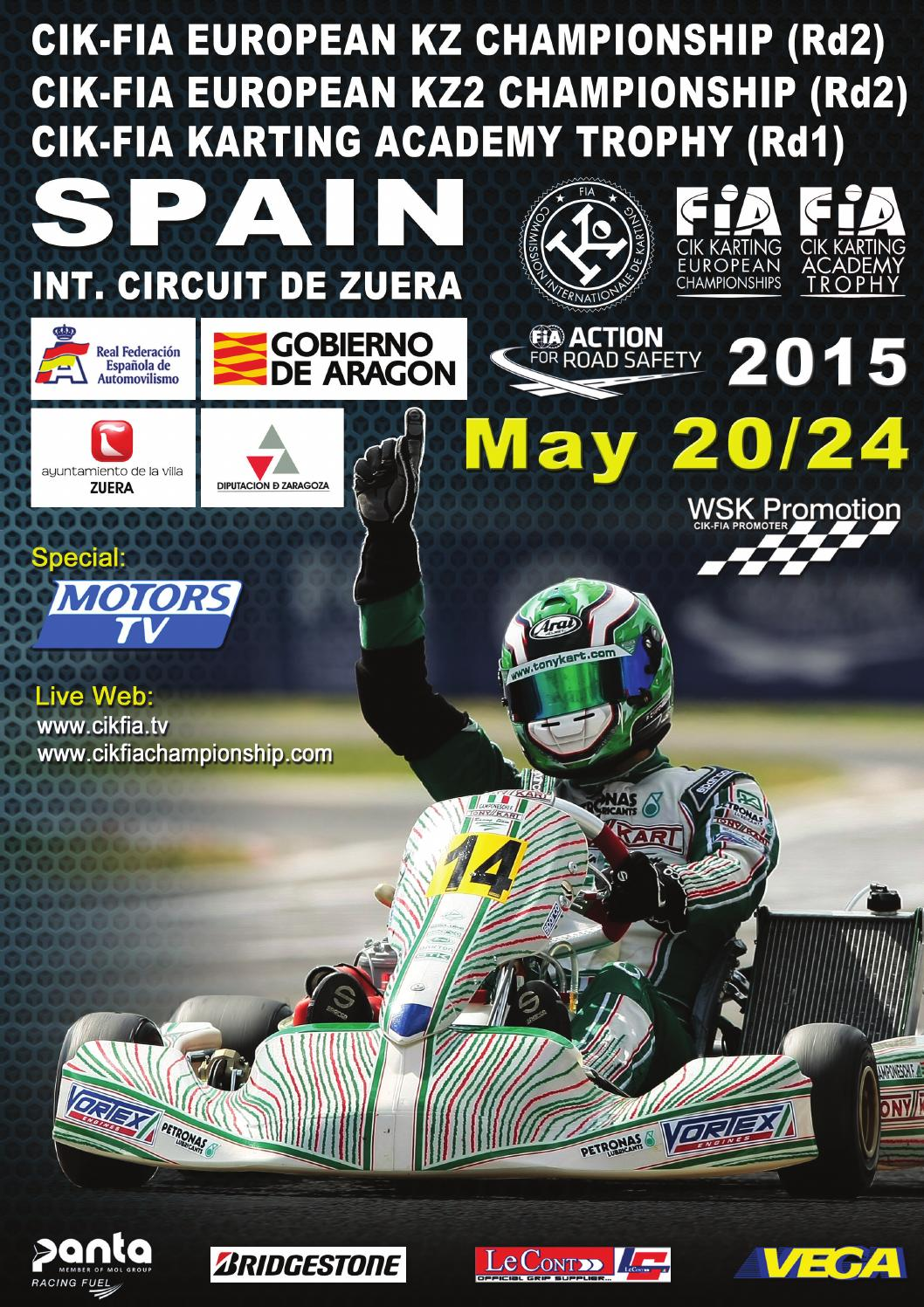 Circuito Zuera : Cik fia european championship 2015 zuera by wsk promotion issuu