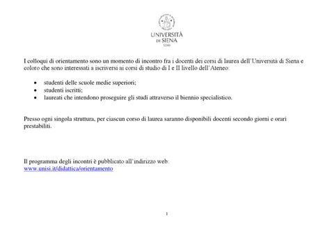 Calendario Didattico Unisi.Calendario Colloqui Di Orientamento 2015 Dbcf By Simone
