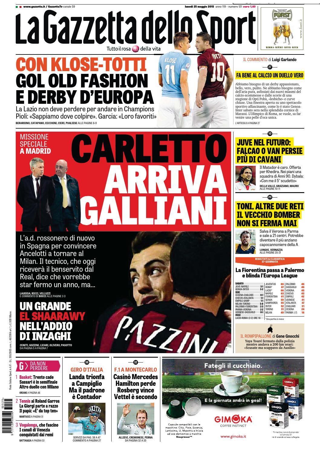 La Gazzetta dello Sport (05 25 2015) by Nguyen Duc Thinh issuu