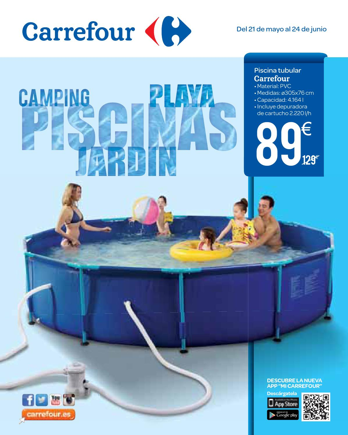 Piscinas y jardin by losdescuentos issuu - Carrefour piscina ...