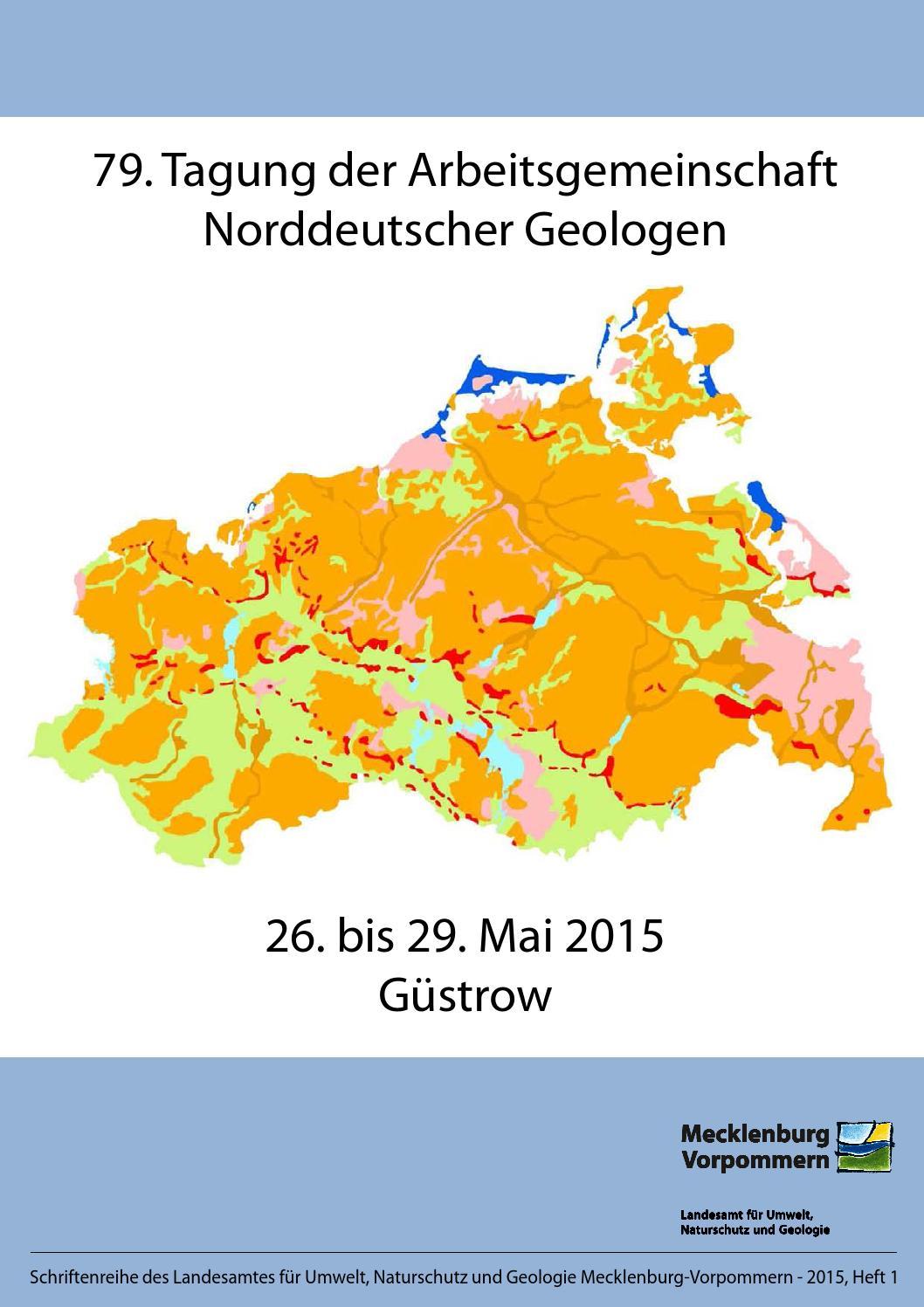 79. Tagung der Arbeitsgemeinschaft Norddeutscher Geologen by Geozon ...