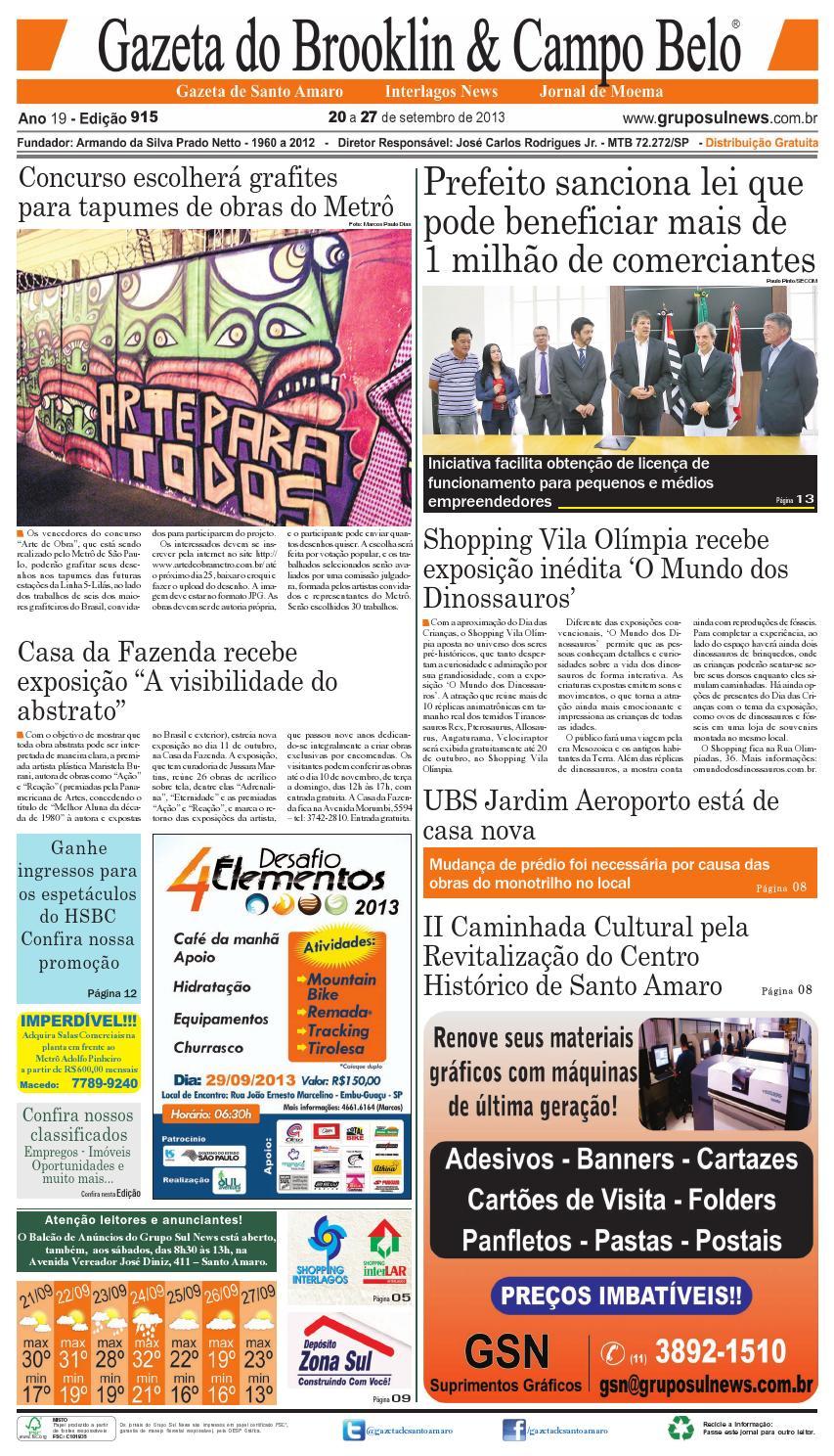 Edição 915 - 20 a 27 de setembro de 2013 by Grupo Sul News - issuu 63ce4f5d8f
