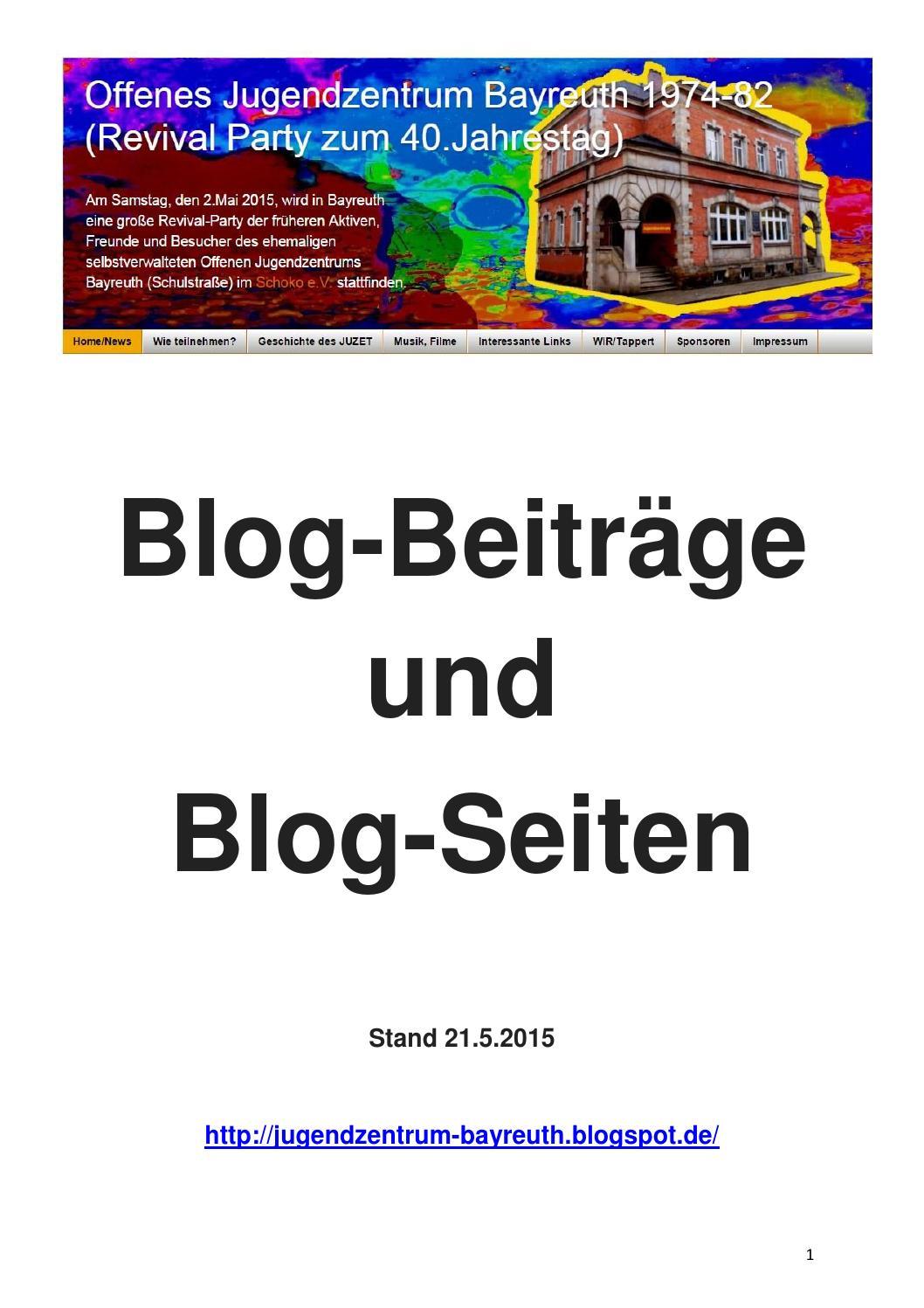 Blog Beiträge Und Blog Seiten (21.5.2015) By Che   Issuu