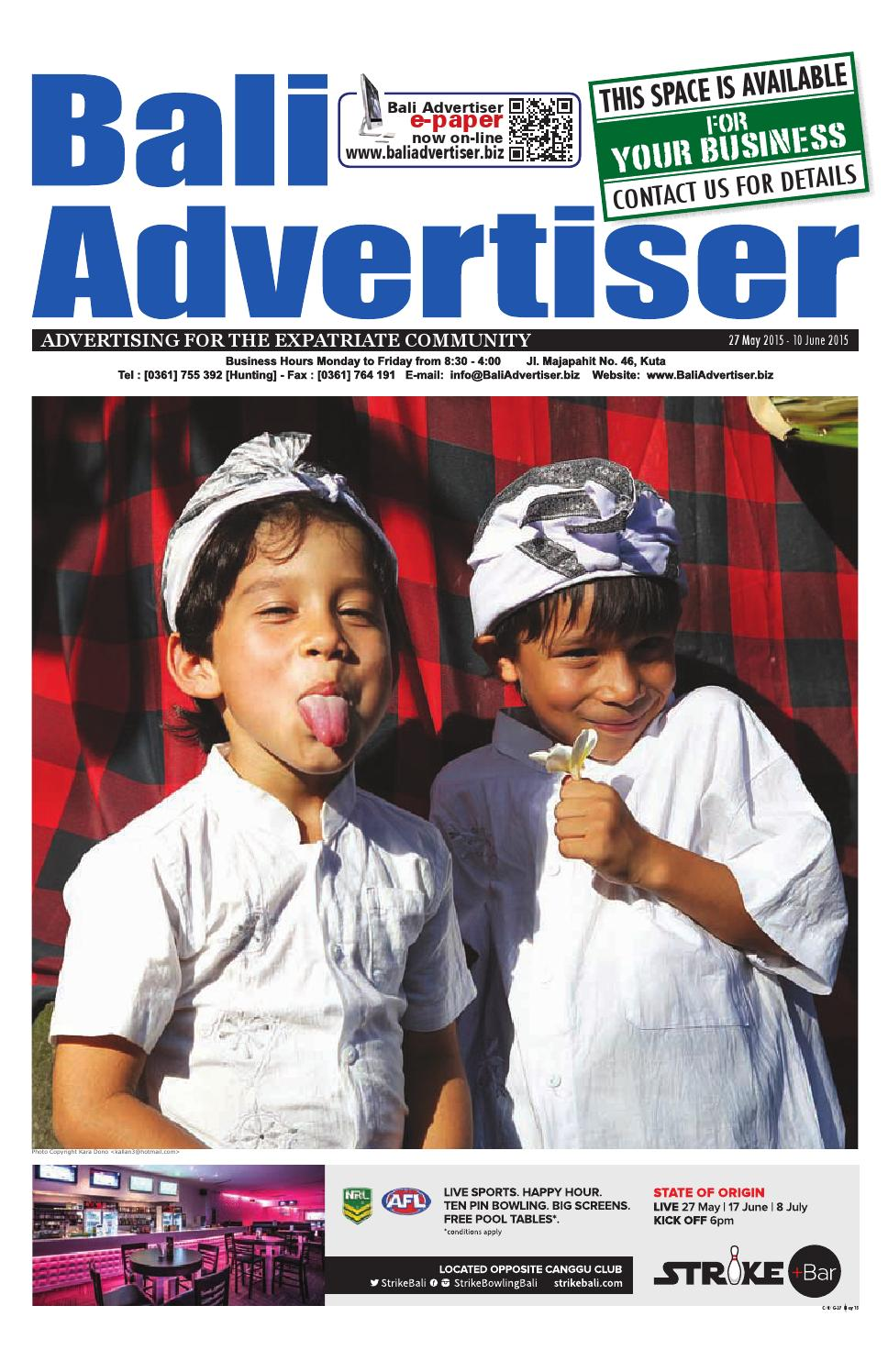 Ba 27 May 2015 By Bali Advertiser Issuu Baruu Map Voucher 25juta Bonus 50k