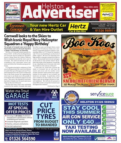 Helston Advertiser May 26th 2015